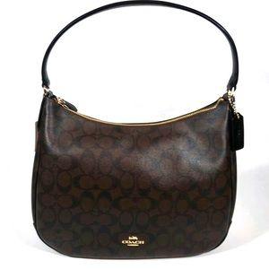 NWT Coach Signature Zip Top Shoulder Bag Purse